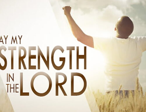 Pray my strength in the Lord